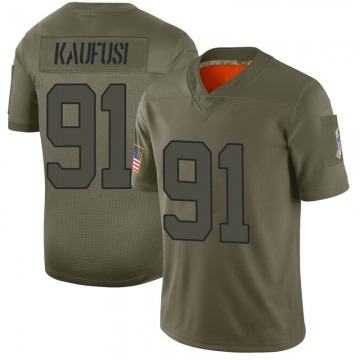 Men's Bronson Kaufusi New York Jets Limited Camo 2019 Salute to Service Jersey