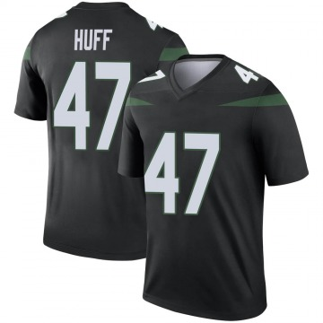 Men's Bryce Huff New York Jets Legend Black Stealth Color Rush Jersey