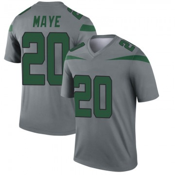 Men's Marcus Maye New York Jets Legend Gray Inverted Jersey
