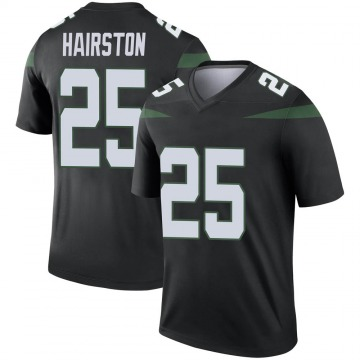 Men's Nate Hairston New York Jets Legend Black Stealth Color Rush Jersey