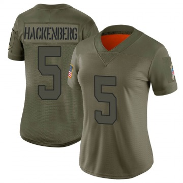 Women's Christian Hackenberg New York Jets Limited Camo 2019 Salute to Service Jersey