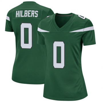 Women's Jared Hilbers New York Jets Game Green Gotham Jersey