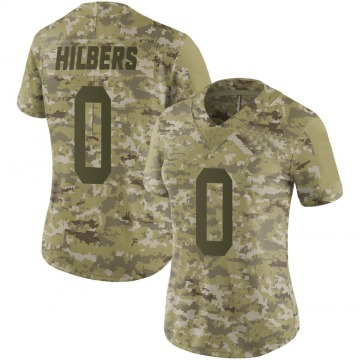Women's Jared Hilbers New York Jets Limited Camo 2018 Salute to Service Jersey
