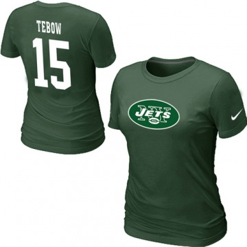 Women's New York Jets Green Tim Tebow Name & Number T-Shirt -