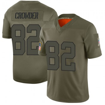 Youth Jamison Crowder New York Jets Limited Camo 2019 Salute to Service Jersey
